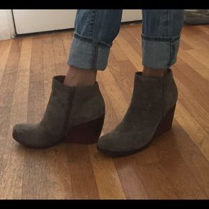 "aeb147c8e0fa Kork-Ease Shoes - Kork-Ease ""Natalya"" Grey Suede booties"